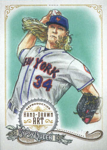Photo of 2017 Topps Gypsy Queen Hand Drawn Art Reproductions #GQARNS2 Noah Syndergaard
