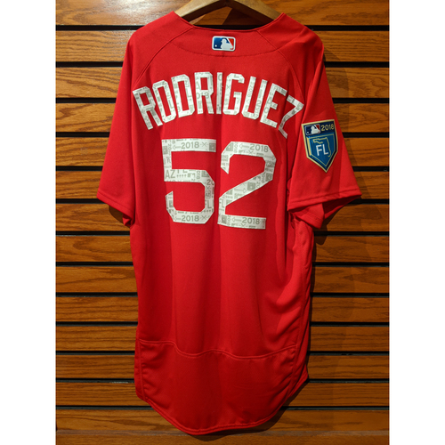 Photo of Eduardo Rodriquez Team Issued Red Spring Training Jersey