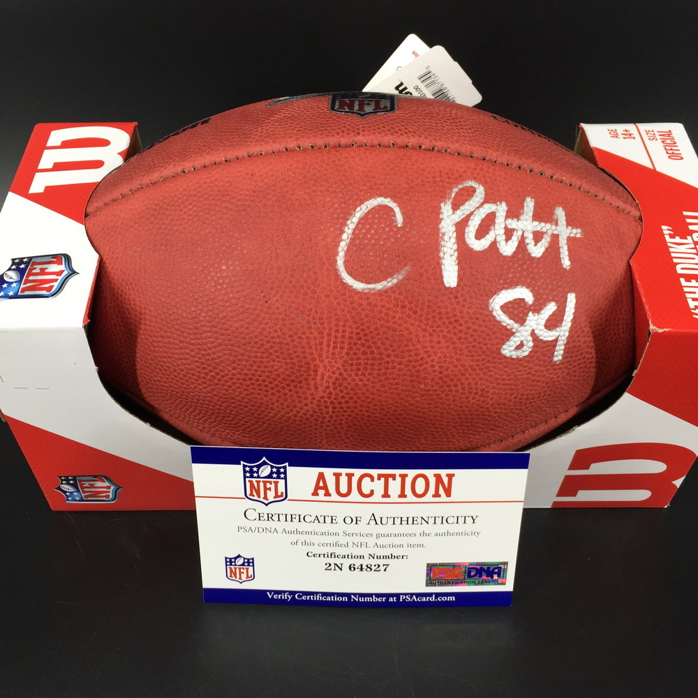 NFL - Bears Cordarrelle Patterson Signed Authentic Football W/ 100 seasons Logo
