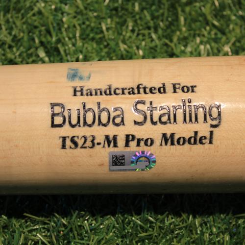 Photo of Game-Used Broken Bat: Bubba Starling #11 (CWS @ KC 9/3/20)