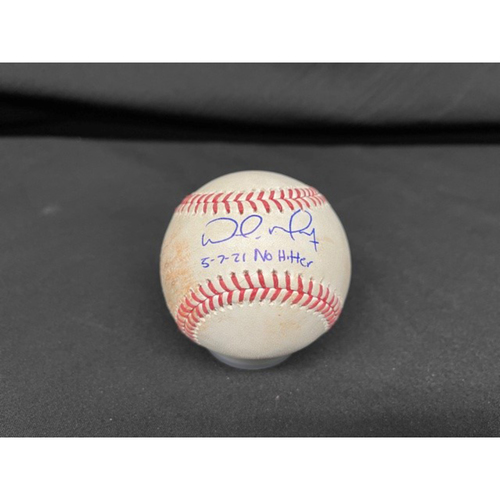 Photo of Wade Miley No-Hitter - *Autographed Game-Used Baseball* - Bot 3 - Wade Miley to Josh Naylor (Strikeout Swinging) - Inscribed as 5-7-21 No Hitter