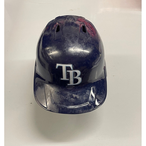 Photo of Game Used Home Run Batting Helmet: Mike Brosseau - 1 HR, 2 RBIs (See Description for Details)
