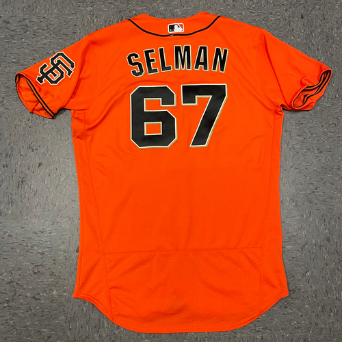Photo of 2021 Team Issued Orange Home Alt Jersey - #67 Sam Selman - Size 44