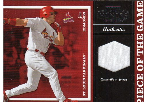Photo of 2004 Playoff Honors Piece of the Game Jersey #14 Jim Edmonds/250