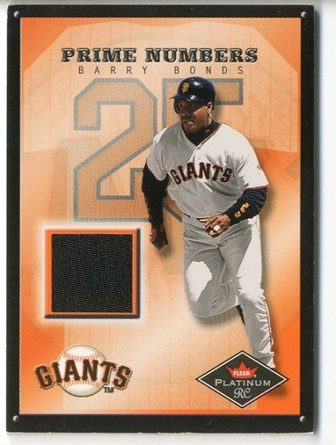 Photo of 2001 Fleer Platinum Prime Numbers #3 Barry Bonds