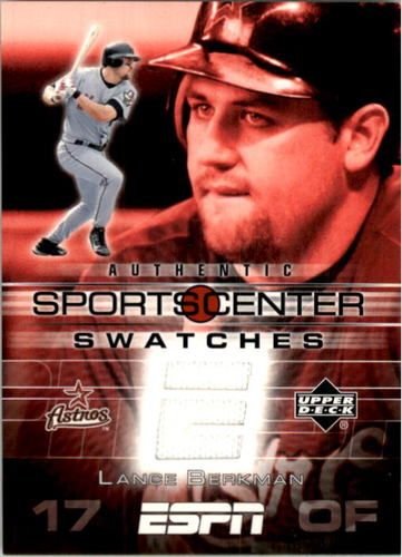 Photo of 2005 Upper Deck ESPN Sports Center Swatches #LB Lance Berkman