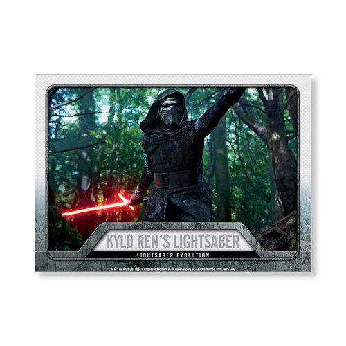 2016 Star Wars Evolution Kylo Ren's Lightsaber EVOLUTION OF LIGHTSABER Poster - # to 99