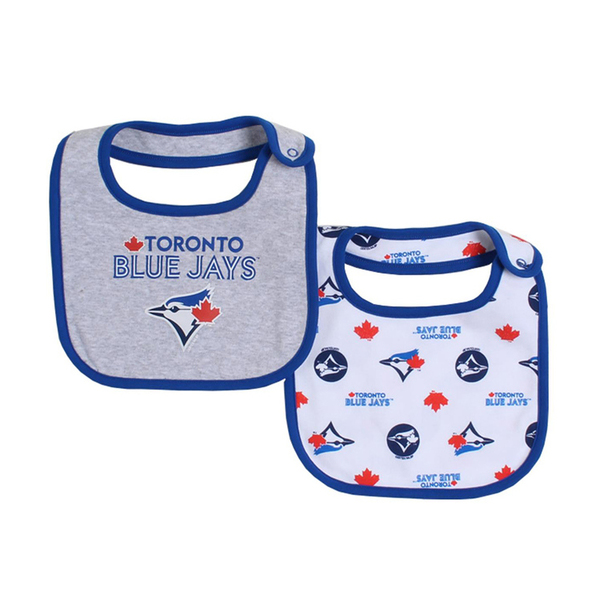 Toronto Blue Jays 2 Pack Baby Snap Bibs by Snugabye