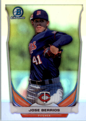 Photo of 2014 Bowman Chrome Draft Top Prospects Refractors Jose Berrios -- Twins post-season