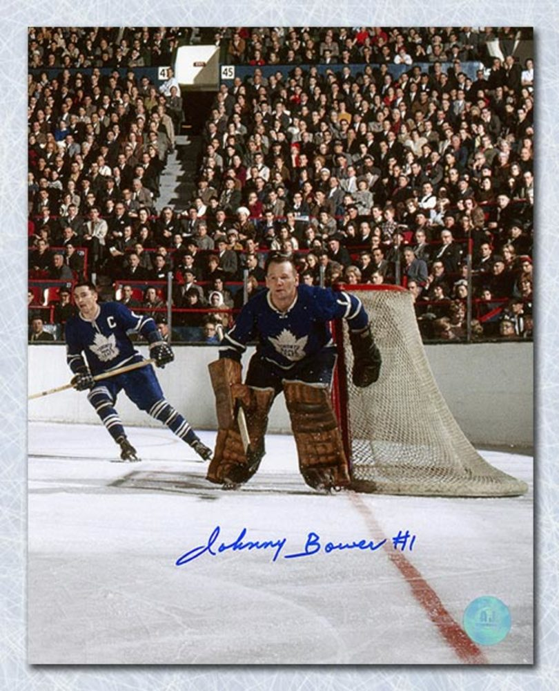 Johnny Bower Toronto Maple Leafs Autographed Maple Leaf Gardens 8x10 Photo