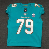 SPORT RELIEF - DOLPHINS SAM YOUNG GAME WORN DOLPHINS JERSEY W/ LONDON GAMES PATCH (OCTOBER 1, 2017) SIZE 46