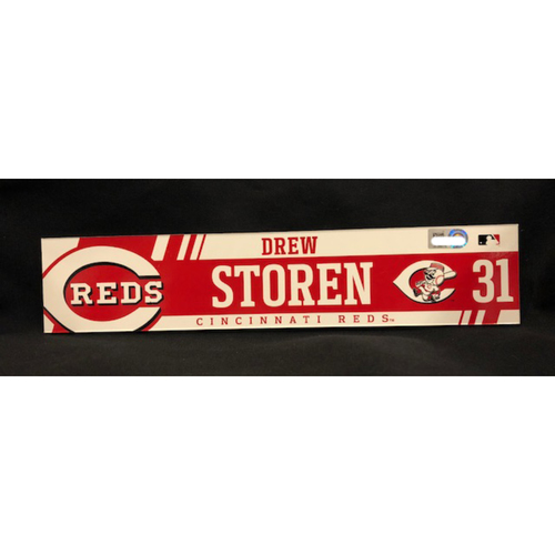 Photo of Drew Storen - Team-Issued Locker Tag - Used During 2017 Season