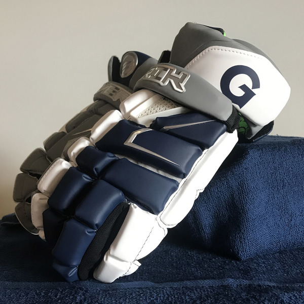 Photo of Georgetown Men's Lacrosse Blue and Gray Gloves