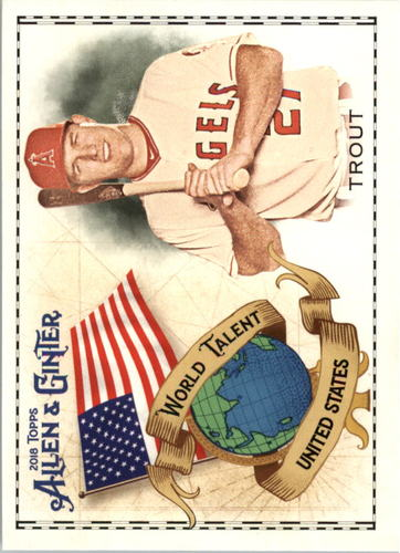 Photo of 2018 Topps Allen and Ginter World Talent #WT50 Mike Trout