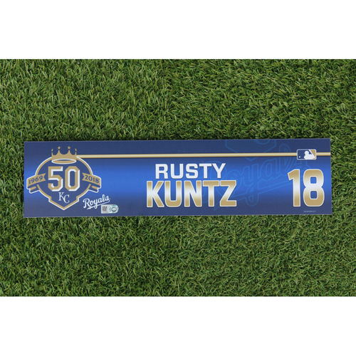 Photo of Game-Used Locker Nameplate: Rusty Kuntz