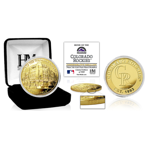 "Photo of Colorado Rockies ""Stadium"" Gold Mint Coin"