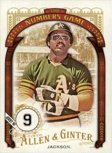Photo of 2016 Topps Allen and Ginter The Numbers Game #NG66 Reggie Jackson