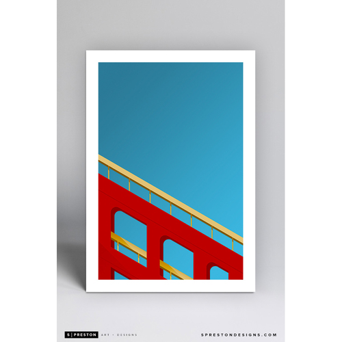 Photo of Candlestick Park - Minimalist Ballpark Art Print by S. Preston  - San Francisco Giants
