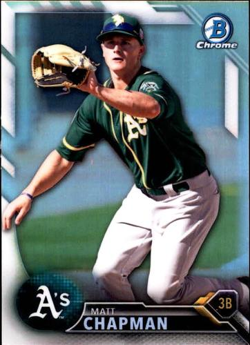 Photo of 2016 Bowman Chrome Draft Refractors #BDC164 Matt Chapman
