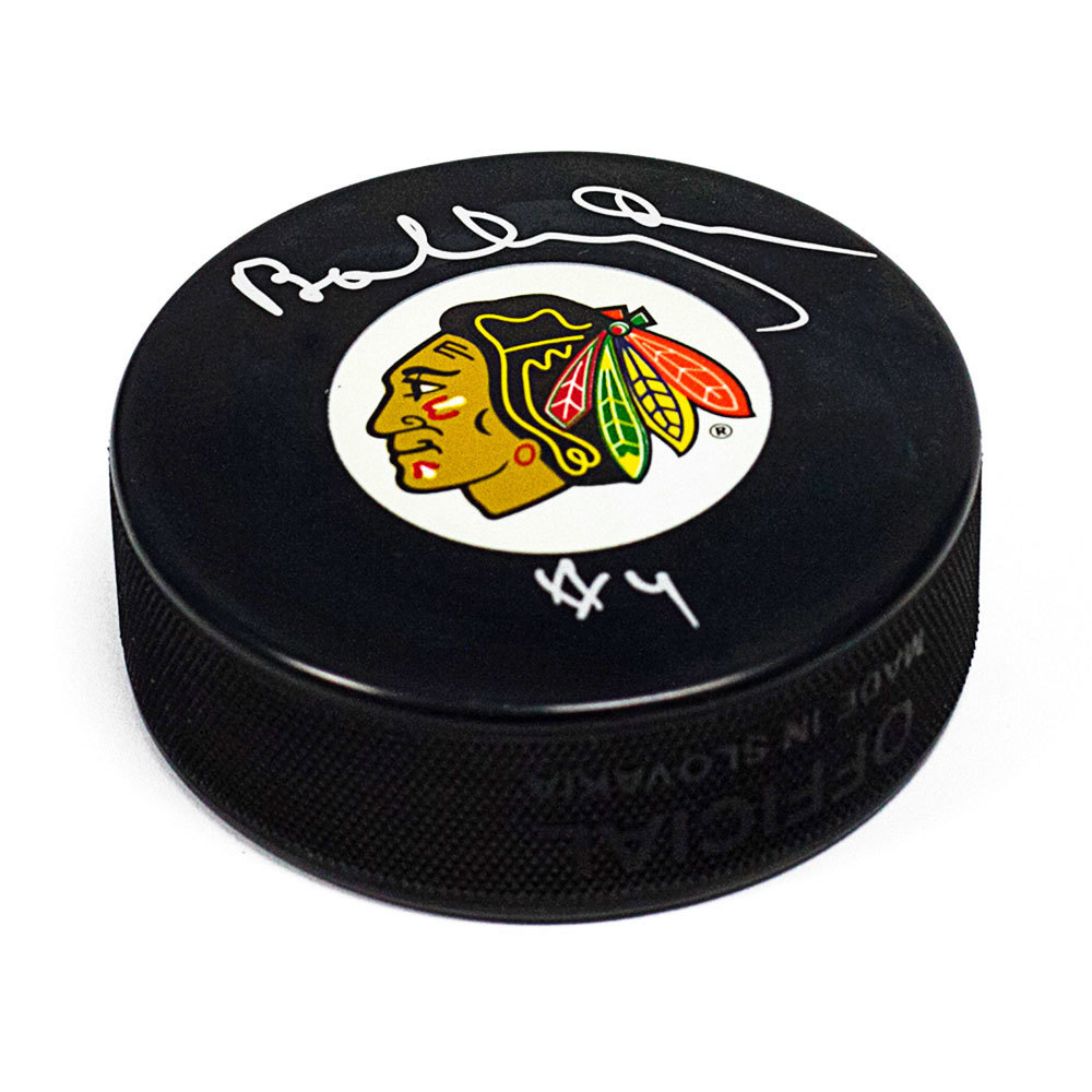 Bobby Orr Chicago Blackhawks Autographed Hockey Puck: GNR COA