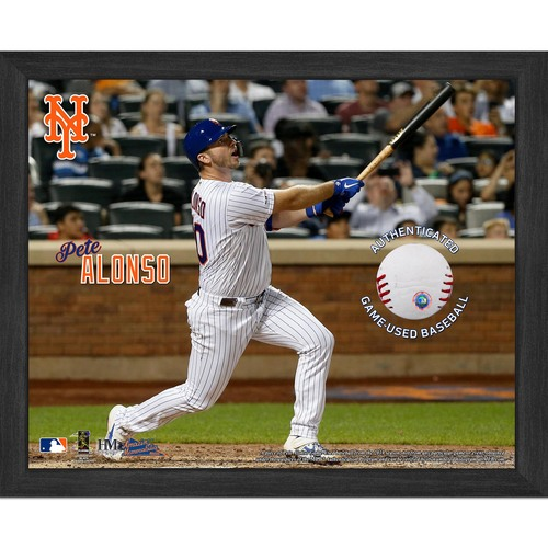 Photo of Pete Alonso 2019 Game-Used Baseball Plaque