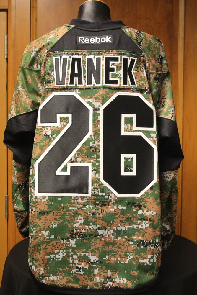 watch dfbc0 e5d7d MN Wild #26 Thomas Vanek Signed, Player Worn Camouflage Wild ...