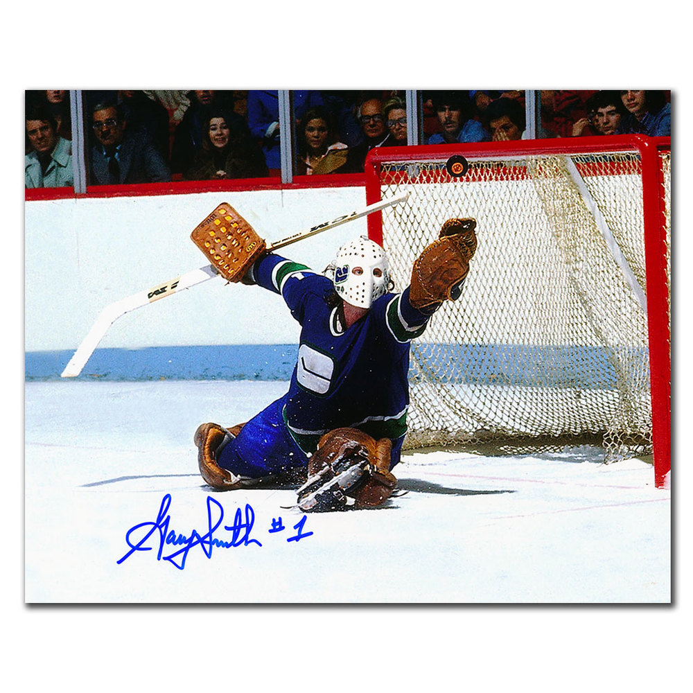 Gary Smith Vancouver Canucks Autographed 8x10