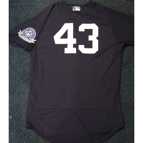 Photo of 2020 Game-Used Spring Training Jersey - Jonathan Loaisiga #43 - Size 44