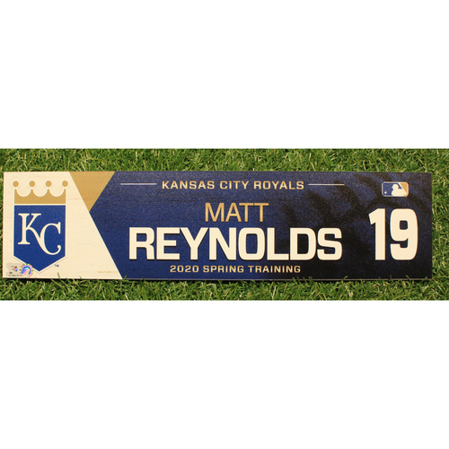 Photo of Game-Used 2020 Spring Training Locker Tag: Matt Reynolds #19