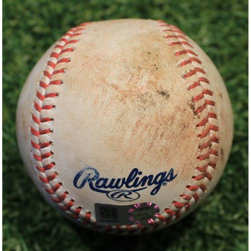 Photo of Game-Used Baseball: LaMonte Wade Jr. 13th Career Hit (MIN @ KC 8/22/20)