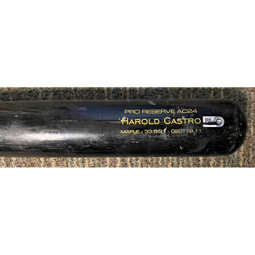 Photo of Harold Castro Detroit Tigers Team-Issued Cracked Bat (MLB AUTHENTICATED)