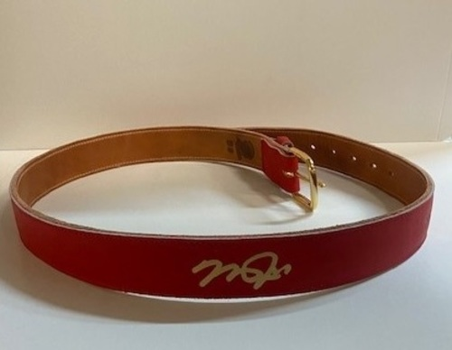 Photo of Mike Trout Autographed Belt - Trout Home Collection