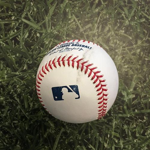 Photo of Batting Practice Used Baseball 05/01/21 - Baseball Hit Over Fence by Justin Turner During Batting Practice