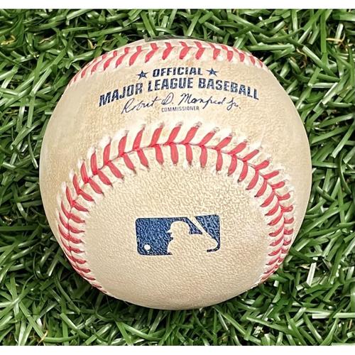 Photo of Game Used Baseball: Charlie Morton strikes out Didi Gregorius - Top 2 - September 25, 2020 v PHI