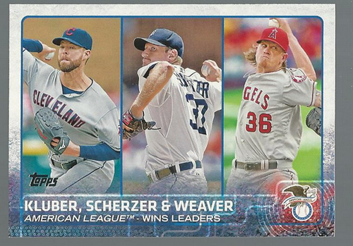 Photo of 2015 Topps #214 Corey Kluber/Max Scherzer/Jered Weaver LL