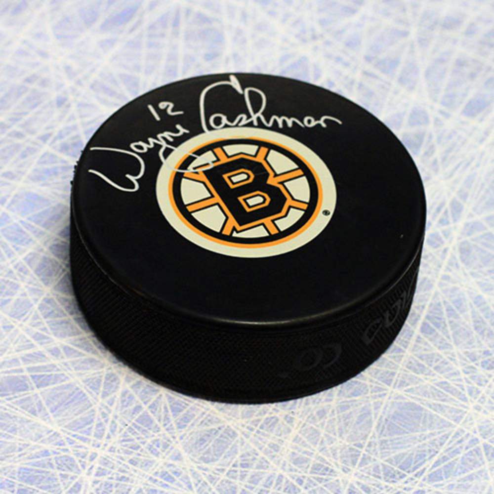 Wayne Cashman Boston Bruins Autographed Hockey Puck