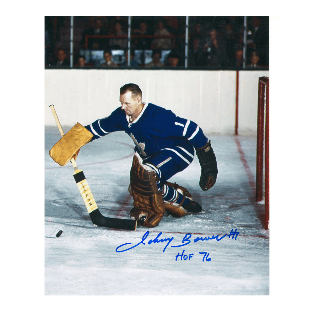 JOHNNY BOWER Signed Vintage Toronto Maple Leafs 8 X 10 Photo - 70444
