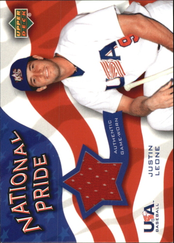 Photo of 2004 Upper Deck National Pride Memorabilia 2 #JLJ Justin Leone Jersey
