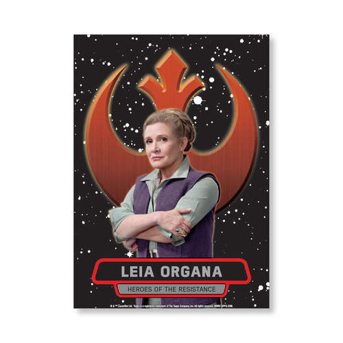 Leia Organa TFA Series 2 HEROES OF THE RESISTANCE Poster - # to 99