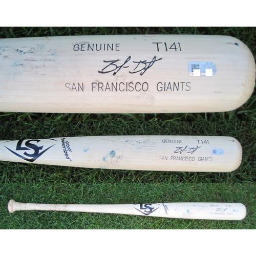 San Francisco Giants - Team Issued Broken Bat - Spring Training - Brandon Belt