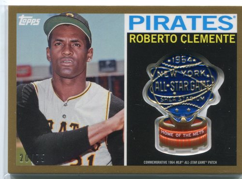 Photo of 2017 Topps MLB All Star Logo Patch Gold  Roberto Clemente 20/75