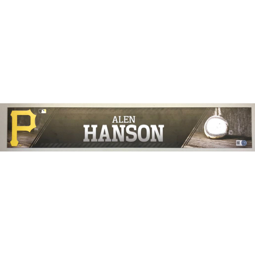 Photo of Alen Hanson Game-Used Locker Name Plate