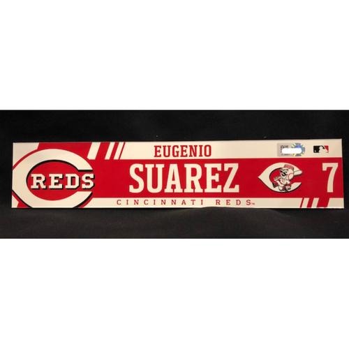 Photo of Eugenio Suarez - Team-Issued Locker Tag - Used During 2017 Season