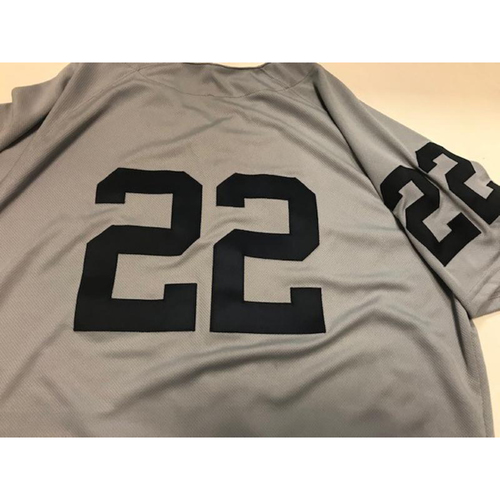 Photo of Game-Used 1968 World Series 50th Anniversary Jersey: Victor Reyes