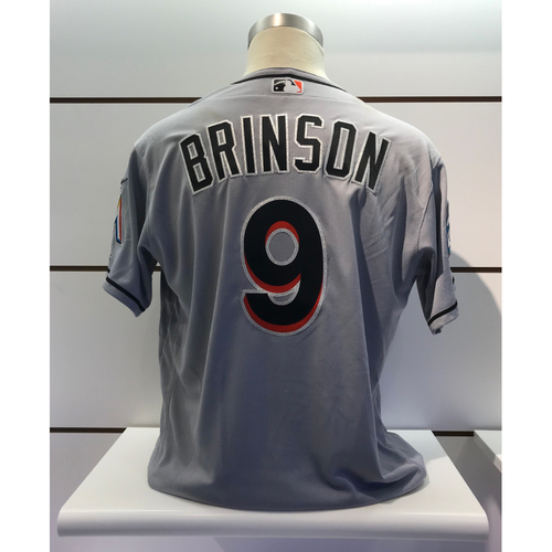 Photo of Game-Used Jersey: Lewis Brinson vs Mets (September 13, 2018) (Size - 48)