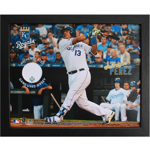 Photo of Game-Used Jersey Frame: Salvador Perez