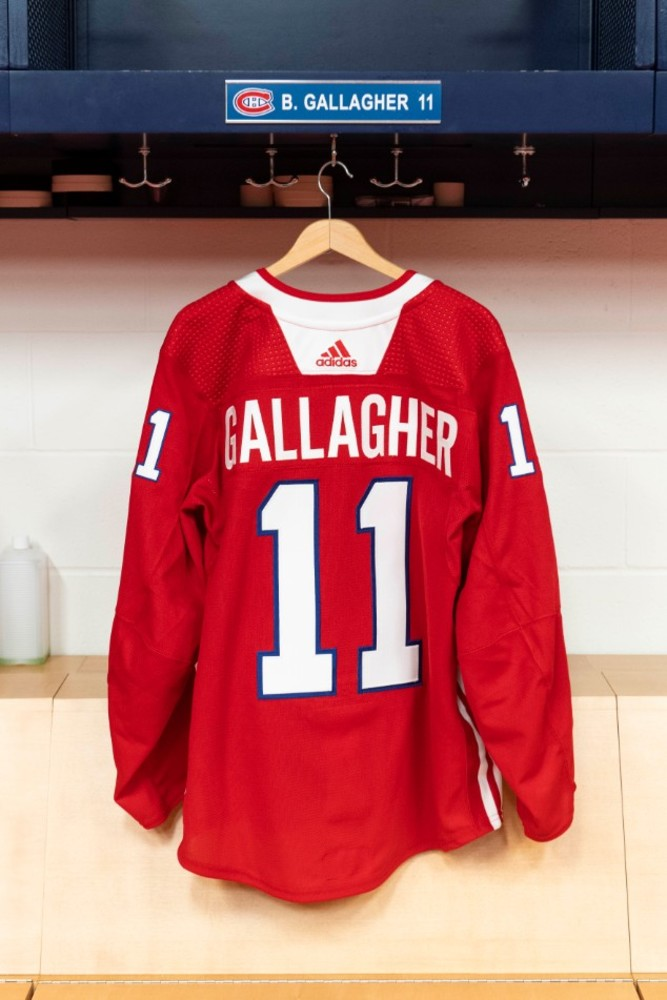 11 Brendan Gallagher Warm-up worn and autographed Rainbow jersey ... bf3a2bfe3