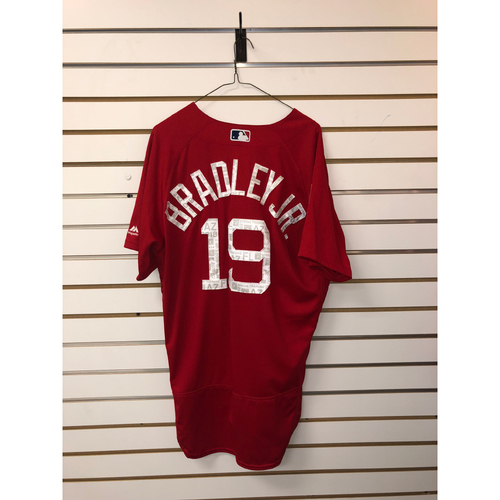 Photo of Jackie Bradley Jr Team-Issued 2018 Spring Training Jersey