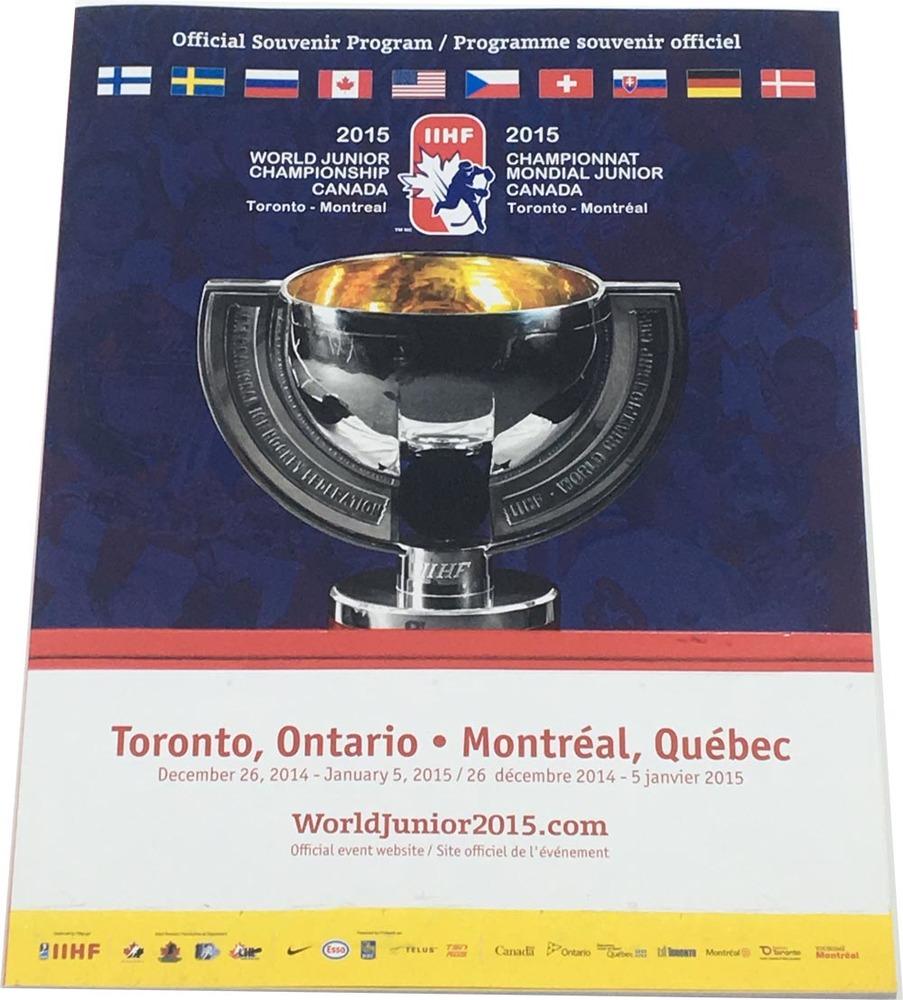 2015 IIHF World Junior Hockey Championship Official Program - McDavid / Domi