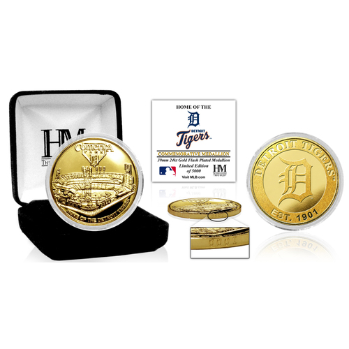 "Photo of Detroit Tigers ""Stadium"" Gold Mint Coin"